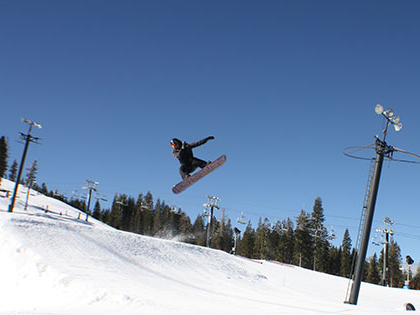 SNU Tahoe student plays at Boreal Ski Reort