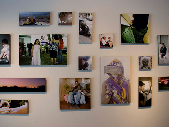 installation of photographic images by student artist Alex Rubio