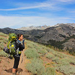McKenna Bean, interdisciplinary studies major in sustainability, on a high country backpacking trip