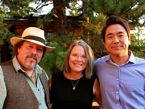 Lee Herrick, Carolyn Forche., and Brian Turner; professors for Sierra Nevada College's low residency MFA program