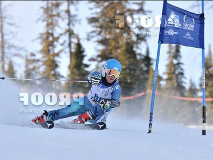 SNC 自然资源管理 major and skier Mihaela Kosi. racing for the Eagles