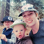 image of Sierra Nevada University transfer student Sydney Mlodonsky with her sons