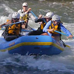 interdisciplinary studies in outdoor adventure leadership students in a whitewater rafting class