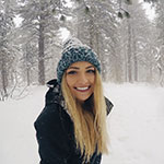 SNU Tahoe student Parker Pilati enjoying the snow.