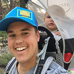 Business major Nick Smith takes hike with his daughter near Lake Tahoe