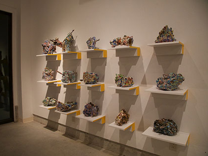 Ian Wieczorek, Bachelor of Fine Arts, has ceramics displayed in SNC Tahoe