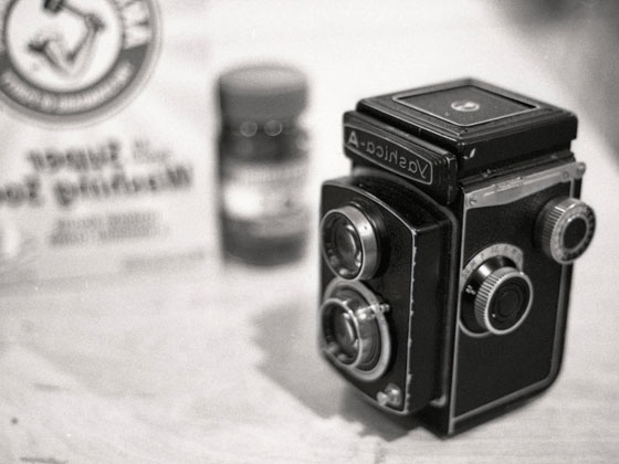 photo of old Yashica camera