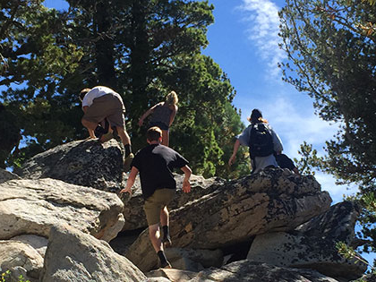 Environmental Systems students explore Tahoe Meadows during class