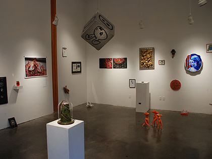 An art gallery exhibition at Sierra Nevada University