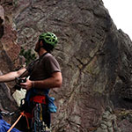 Rhett Gause, interdisciplinary studies major in digital arts and marketing, photographing a high altitude climbing trip.