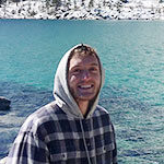 SNU psychology student ryan knuppenburg at Lake Tahoe