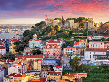 Skyline image of Lisbon, Portugal, home to the summer 2020 creative writing residency.