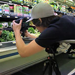 A Sierra Nevada University interdisciplinary studies student in journalism and Digital Art working on a documentary film