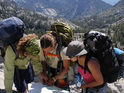 Sierra Nevada University students participated in Wilderness Orientation that takes them to Desolation Wilderness before classes begin